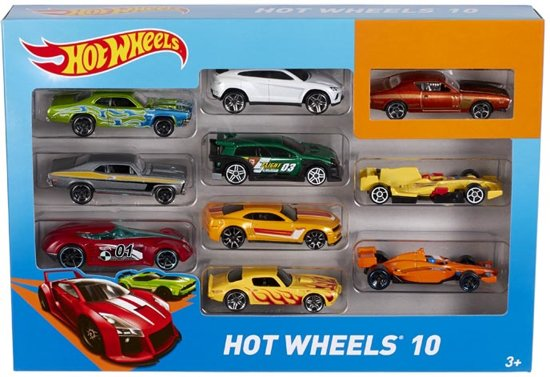 hot wheels cadeauset met 10 auto 39 s mattel. Black Bedroom Furniture Sets. Home Design Ideas