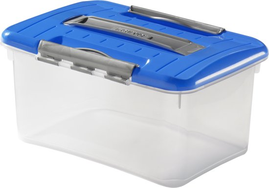 Curver Optima Opbergbox- 5 l - Kunststof - Transparant / Blauw