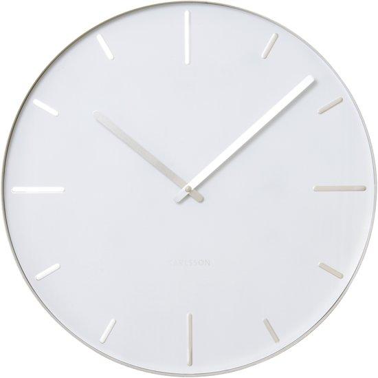 Karlsson belt klok rond metaal 40 cm wit wonen - Klok cm ...