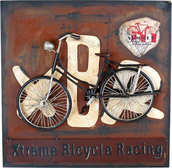 Small foot vintage decoratie blikbord fiets for Metalen decoratie fiets