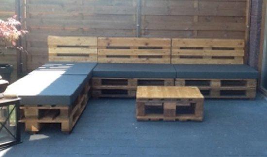 Outdoor kussen voor een pallet van 120 cm x 80 for Wohnzimmertisch 80 x 50
