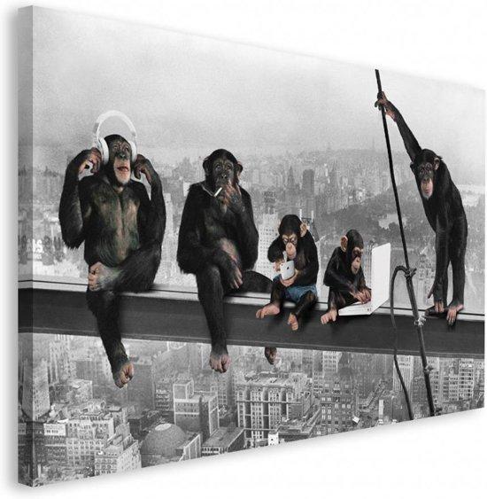 Next by reinders schilderij the chimp girder deco block 118 x 70 cm no 23302 - Deco schilderij slaapkamer kind ...