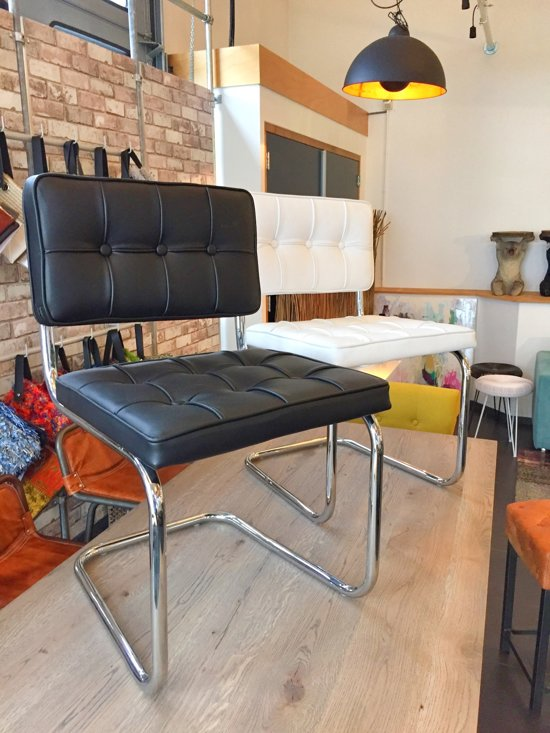 24designs set 2 design eetkamerstoelen wit for Design eetkamerstoelen wit