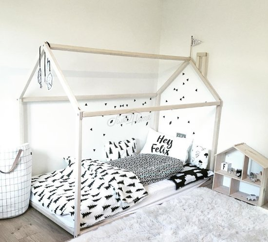 fujl kinderbed kleuter huis bed kinderbed vloer bed speeltent vurenhout. Black Bedroom Furniture Sets. Home Design Ideas