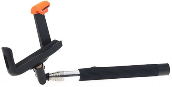 selfie stick met knop in het handvat voor uw apple iphone 4s bluetooth. Black Bedroom Furniture Sets. Home Design Ideas