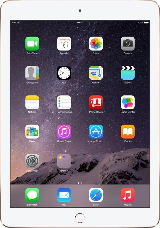 Apple iPad Air 2 - 4G + WiFi - Wit/Goud -  64GB - Tablet