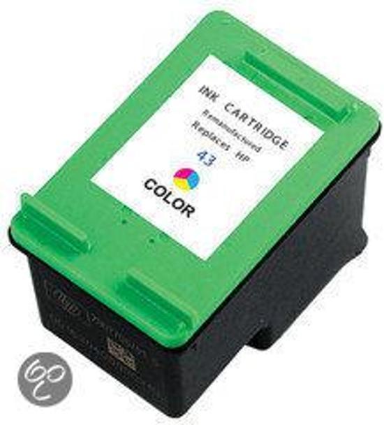 Merkloos – Inktcartridge / Alternatief voor de HP 343 XL inktcartridge C8766EE kleur 21 ml Cartridge