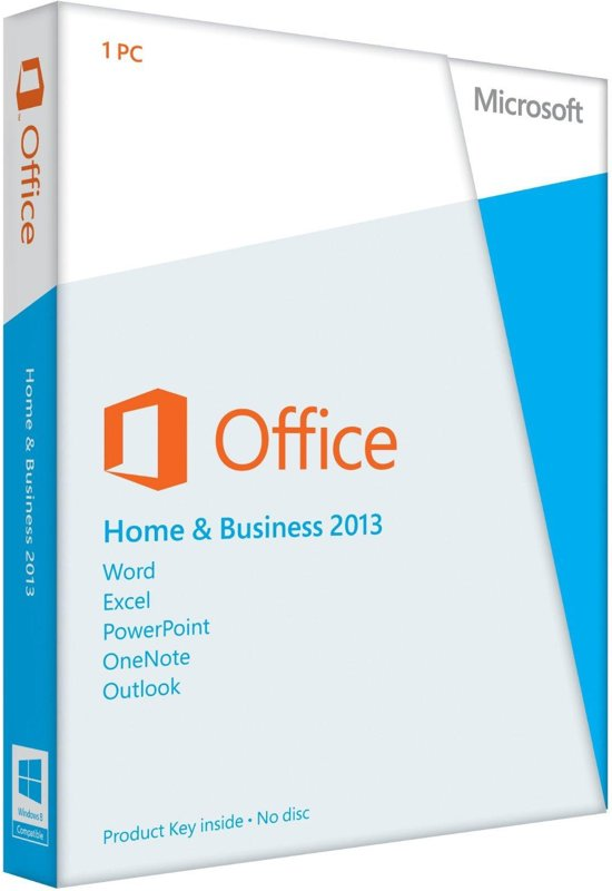 Microsoft Office Home and Business 2013 - Engels / 1 Gebruiker / 1 apparaat / oneindig bruikbaar / Productcode zonder DVD