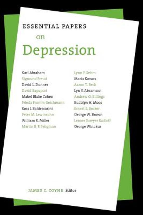 dissertation on depression