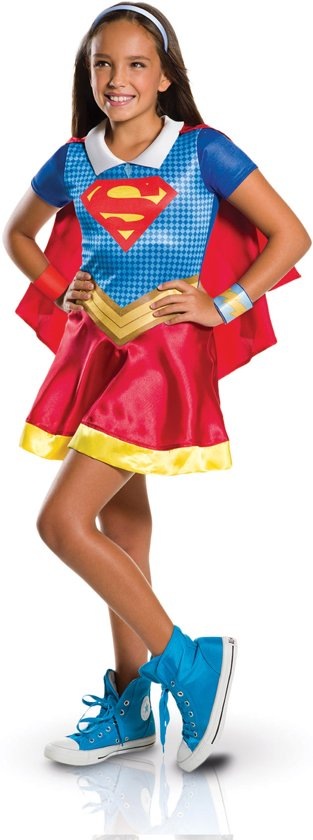 DC SHG Supergirl Child - Kostuum Kind - Maat M - 116/128 in Chevron
