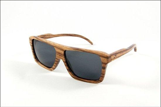 bol.com | Xlusivewood Zebrano - Zonnebril - Hout/Bruin | sunglasses