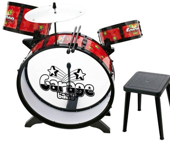 Imaginarium RED DRUM GARAGEBAND - Compleet Drumstel voor Kinderen - Met Krukje in Posterenk