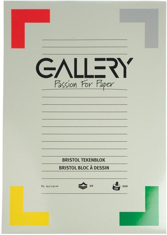Gallery Bristol tekenblok formaat 297 x 42 cm A3 200 g m² 20 vel