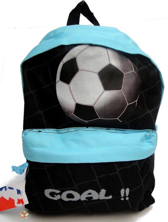 Run Away Goal! Voetbal rugzak rugtas school tas zwart stoer 3-6 Jaar in Zwartewaal