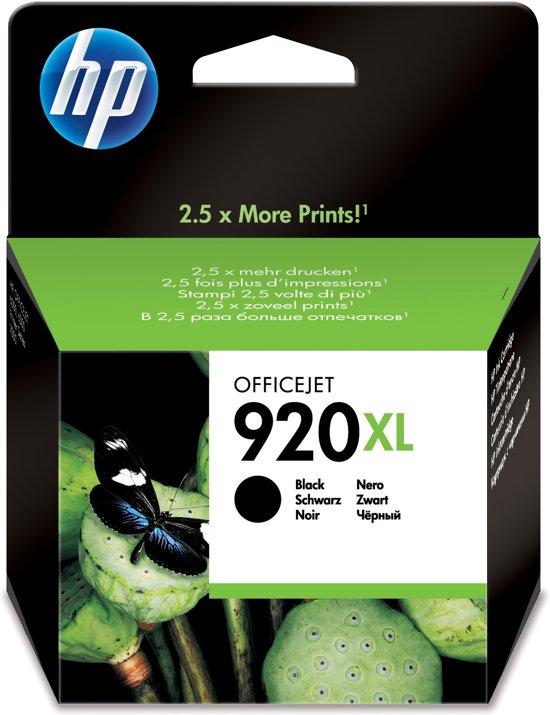 HP 920XL - Inktcartridge / Zwart  (CD975AE)
