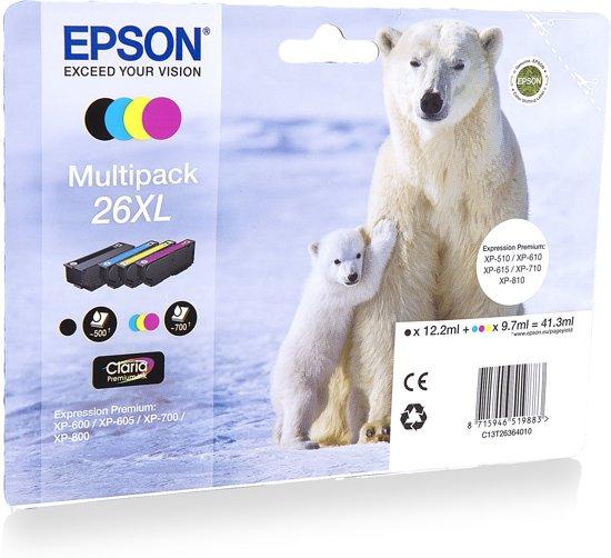 Epson 26XL - Inktcartridge / Zwart/ Cyaan / Magenta / Geel