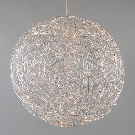 qazqa hanglamp draht bol 80cm aluminium wonen. Black Bedroom Furniture Sets. Home Design Ideas