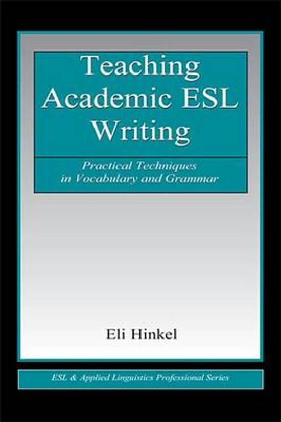 Teaching academic writing esl