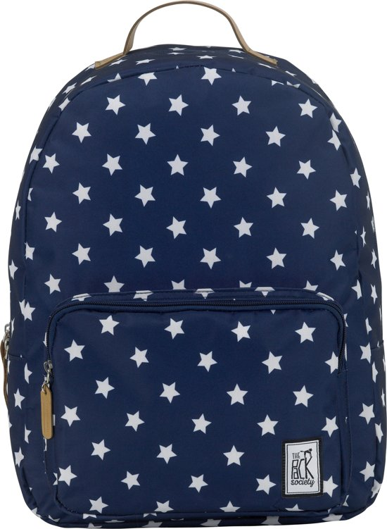 The Pack Society Print - Rugzak - 15 inch - Navy With White Stars Allover in Groote Horst