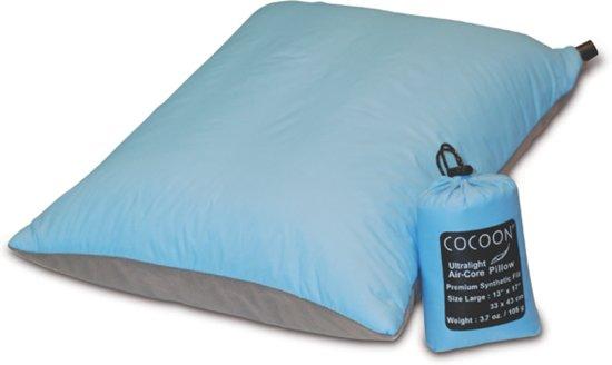 Cocoon Air-Core UL - Kampeerkussen - Blauw - Large in Wessinge