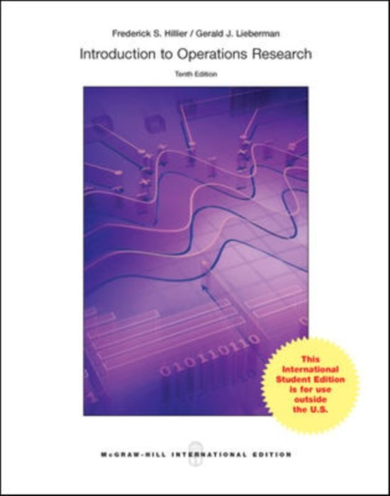 introduction to operations research solutions