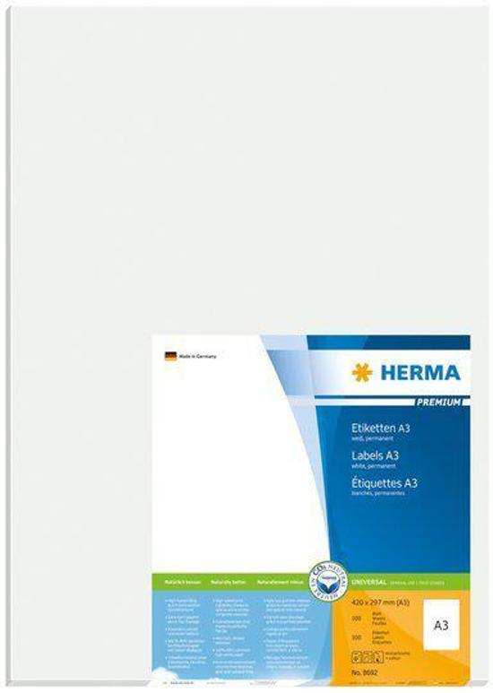 Herma A3 labels white 297x420 SuperPrint 100 pcs.