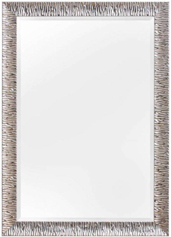 ... : KunstSpiegel Kaapstad - Spiegel - Hout - 70x60 cm - Zilver : Wonen