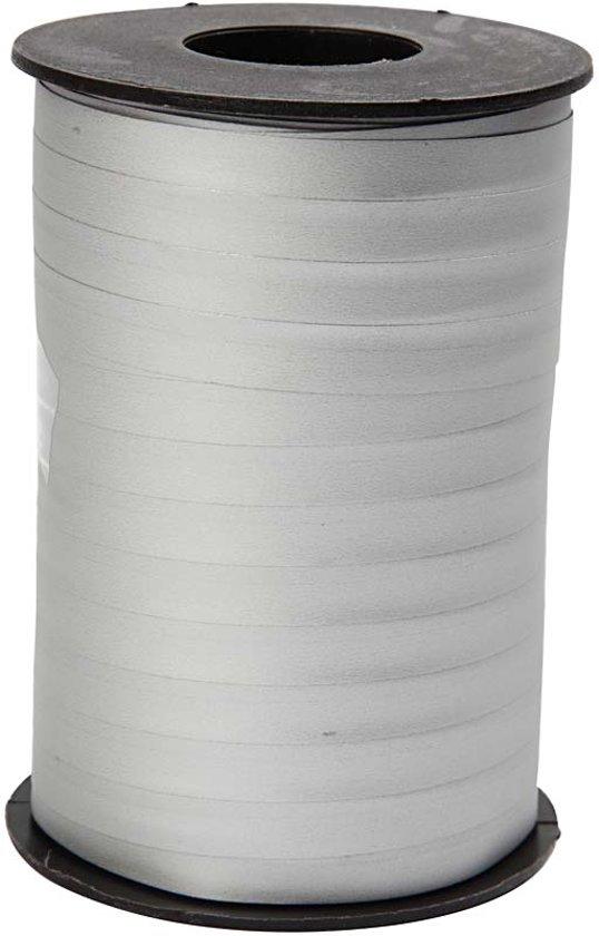 Cadeaulint, b: 10 mm, zilver, mat, 250 m in Vossenpels
