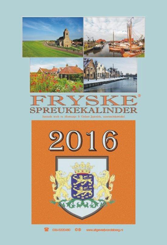bol.com   Fryske spreukekalinder 2016   9789055124466   Boeken