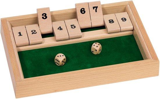 Houten spel Shut the box in Nes