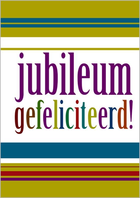 Grote kaart A4 - jubileum - gefeliciteerd! in Mekkelhorst