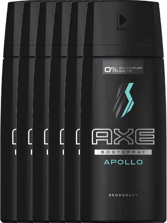 Axe Apollo Body Spray - 150 ml - Deodorant - 6 stuks ...
