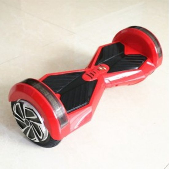 The Future 8.5 inch ROOD met bluetooth + led verlichting Hoverboard in Poesele