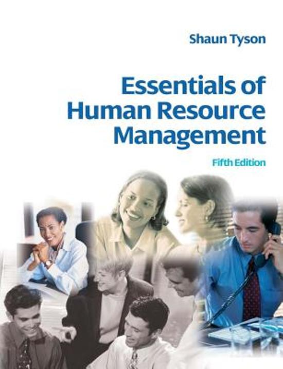management of human resource the essentials pdf