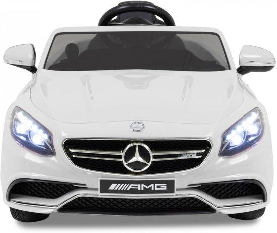Mercedes kinderauto S-klasse 63 AMG wit in Zevekote