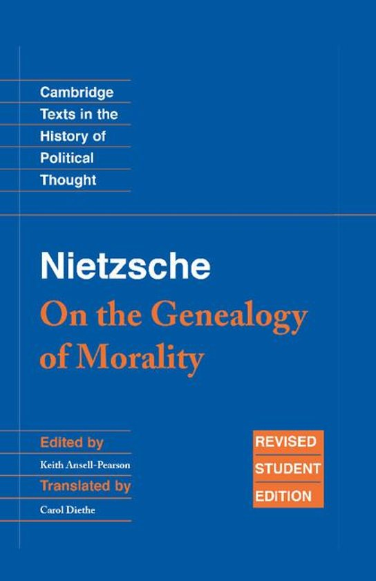 genealogy of morality nietzsche second essay The radically constructive nature of legal and economic concepts emerges quite clearly in the brilliant second essay of the genealogy of morals here, nietzsche sets out his view of how the concept of a contract creates persons, how the ethical subject is not found but made.