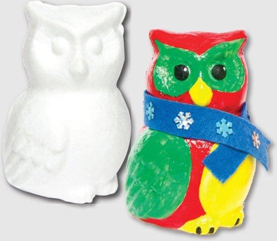 Uiltjes van piepschuim  - basis knutselmateriaal voor kinderen en volwassen om te schilderen en versieren voor herfst (5 stuks) in Startwijk