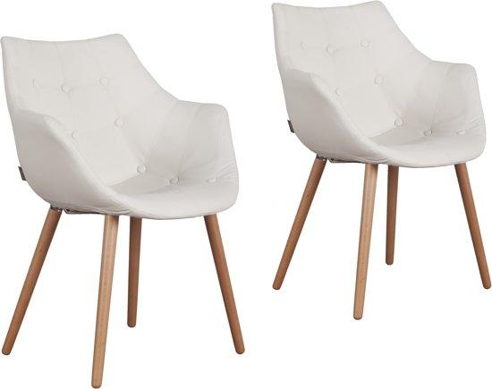Zuiver eleven stoel wit met arm set van 2 for Zuiver stoelen