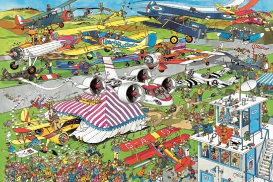 Jan van Haasteren De Vliegshow - Puzzel - 1500 stukjes in Walhain-Saint-Paul