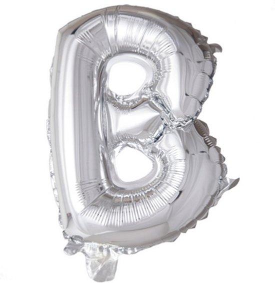 letterballon - 100 cm - zilver - B in Vaartwijk