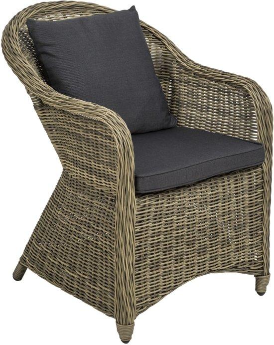 Aluminium wicker tuinstoel luxe met zitkussen for Tuinstoel grijs