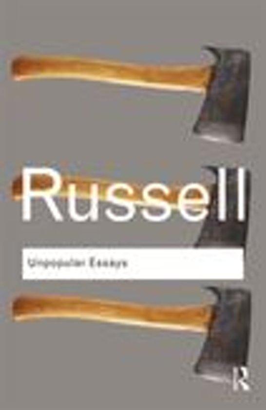 Bertrand russell unpopular essays summary writing