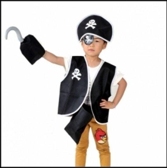 5-delig piratenset - jongens - meisjes - verkleedkleding - one size in Hippolytushoef