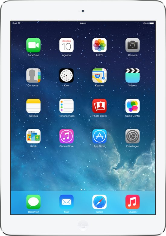 Apple iPad Air - 128GB - Wit/Zilver - Tablet