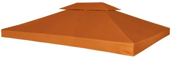 Prieel partytent overkapping doek 270 g m 3 x 4 m terracotta - Prieel frame van ...