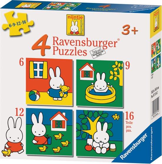Ravensburger Nijntje 4-in-1 Puzzel