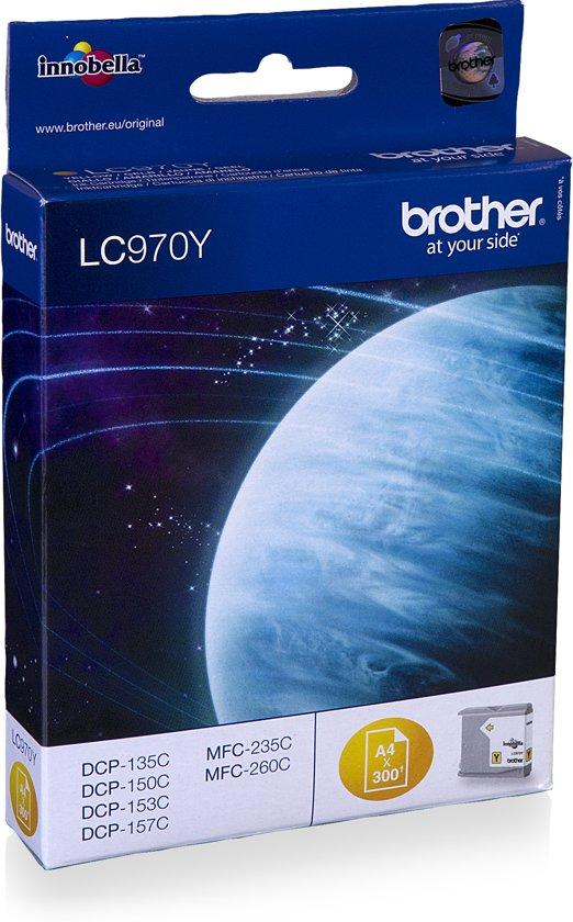 Brother LC-970Y - Inktcartridge / Geel