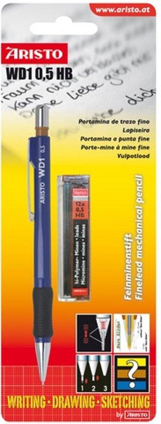 vulpotlood Aristo WD1 blauw 0,50mm met vullingen blister in Goz?e