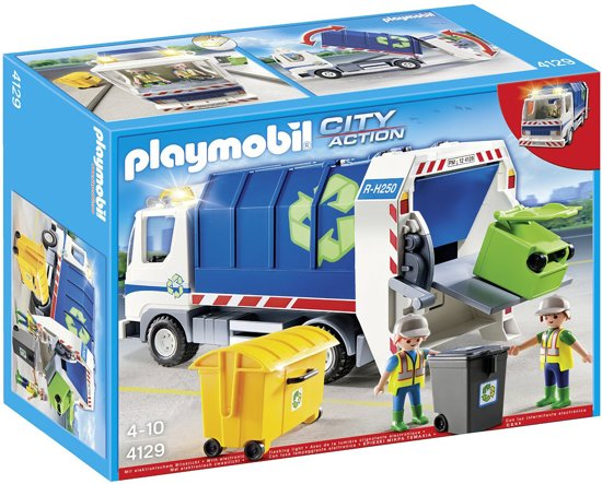 Playmobil Vuilniswagen met Zwaailicht - 4129 in De Horst
