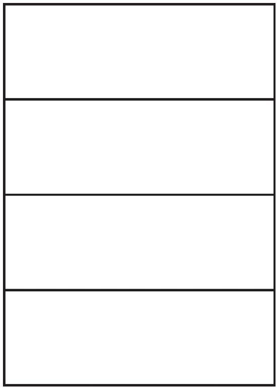 Kores zelfklevende etiketten 210x74mm wit, 4 etiketten per vel, doos á 100 vel.